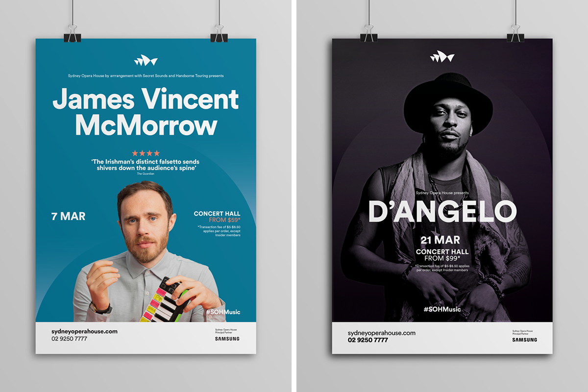 Sydney Opera House Music Campaigns - Posters - James Vincent McMorrow / D'Angelo