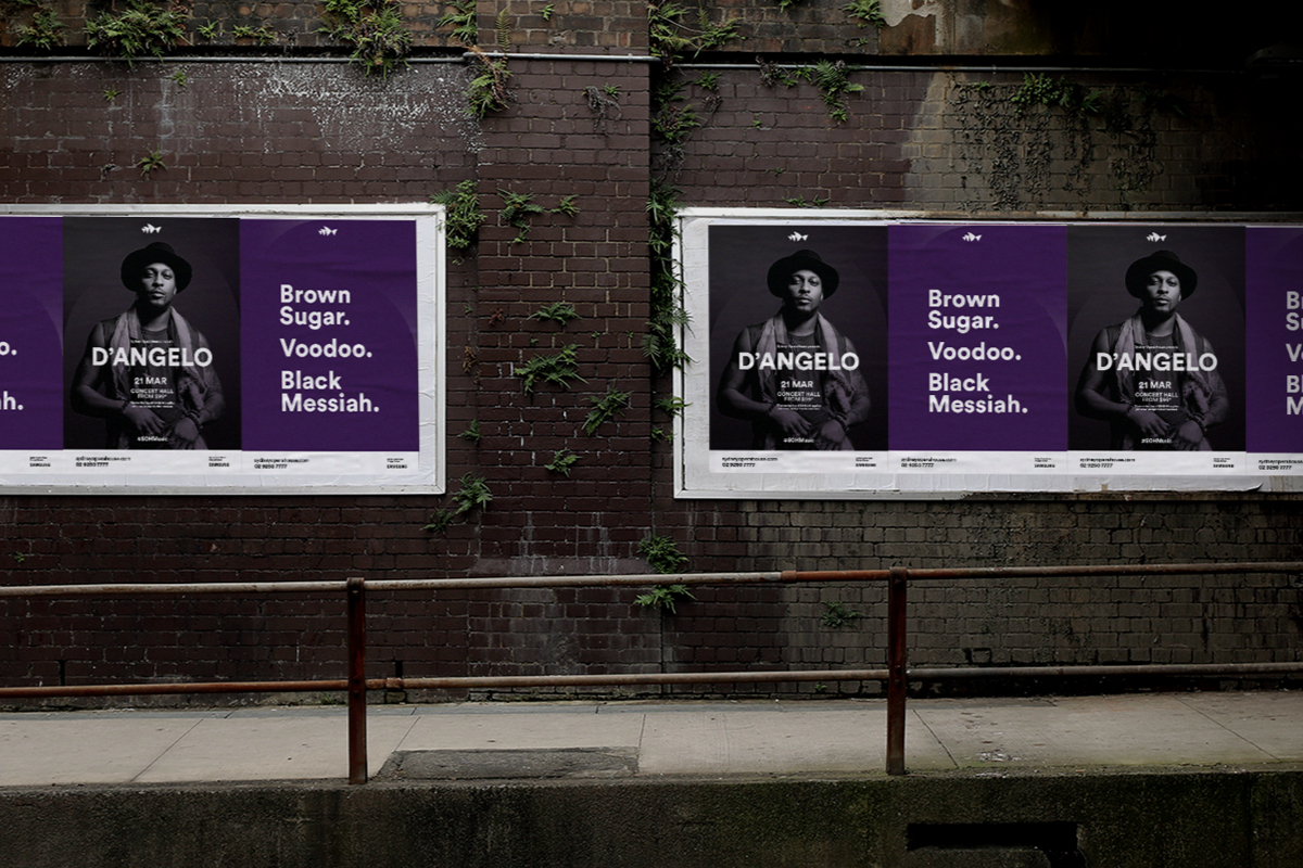 Sydney Opera House Music Campaigns - D'Angelo Street Posters