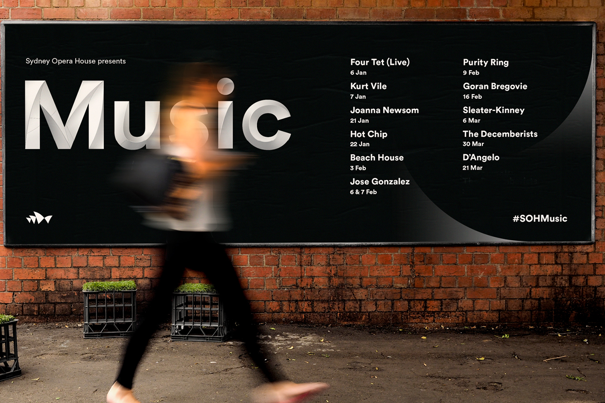Sydney Opera House Music Campaigns - Line Up Billboard