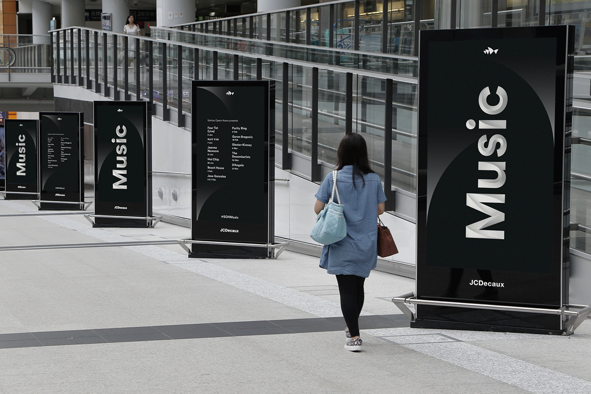 Sydney Opera House Music Campaigns - Summer Line Up Signage