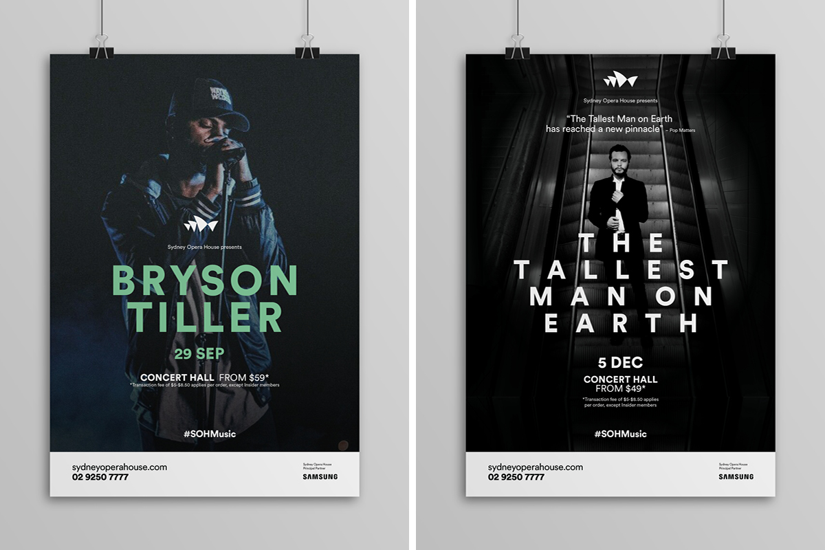 Sydney Opera House Music Campaigns - Bryson Tiller / The Tallest Man in the World