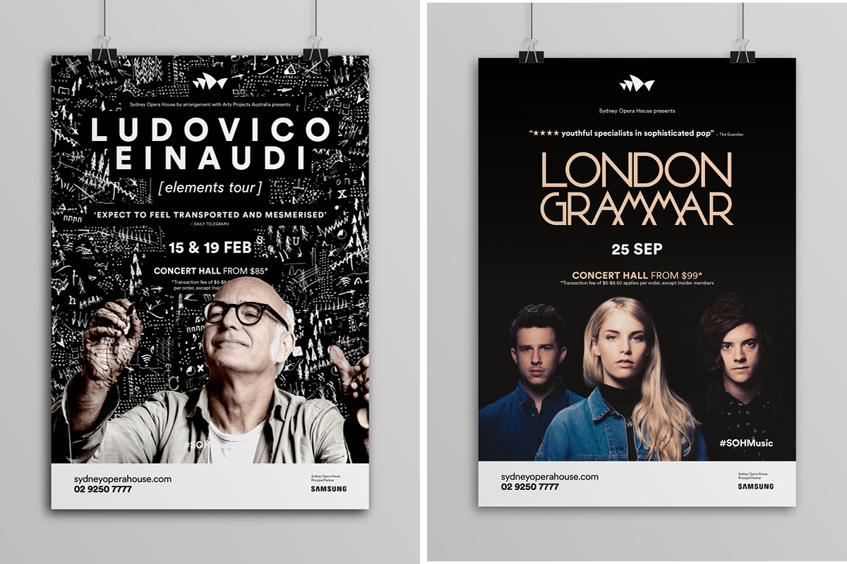Sydney Opera House Music Campaigns - Ludovico Einaudi / London Grammar