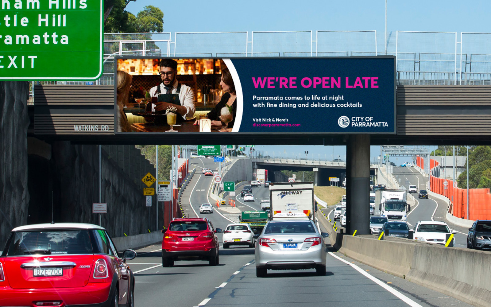 City of Parramatta - Night Time Economy - Billboard